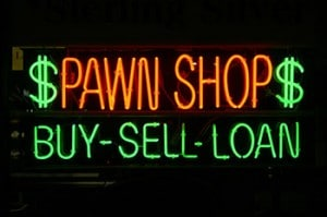 """Neon Sign Series """"pawn shop buy-sell-loan"""""""