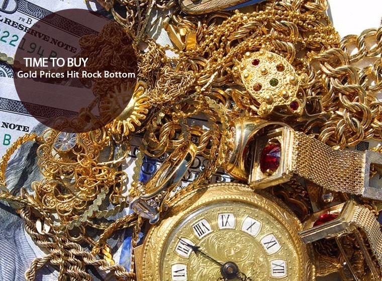 gold prices hit rock bottom